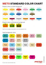 METO Standard Color Chart for Labels