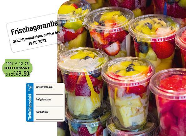 Lebensmittelkennzeichnung für Restaurant, Küche oder Thekenverkauf